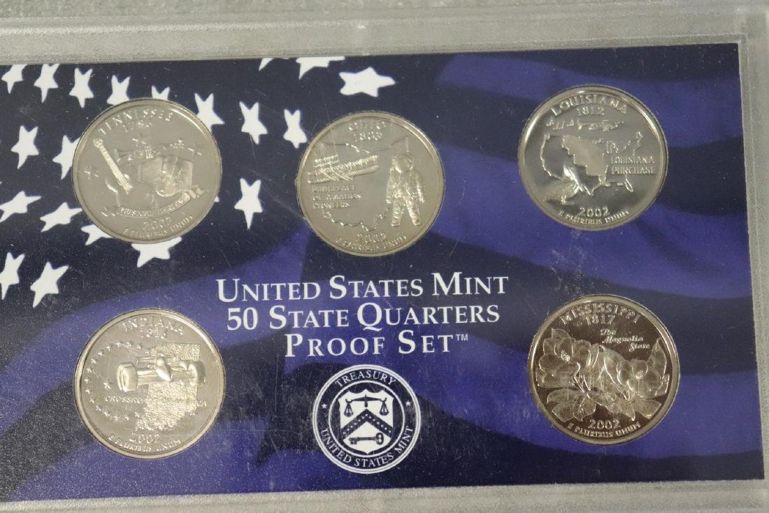Lot of Three State Quarter Proof Sets in Case - 6