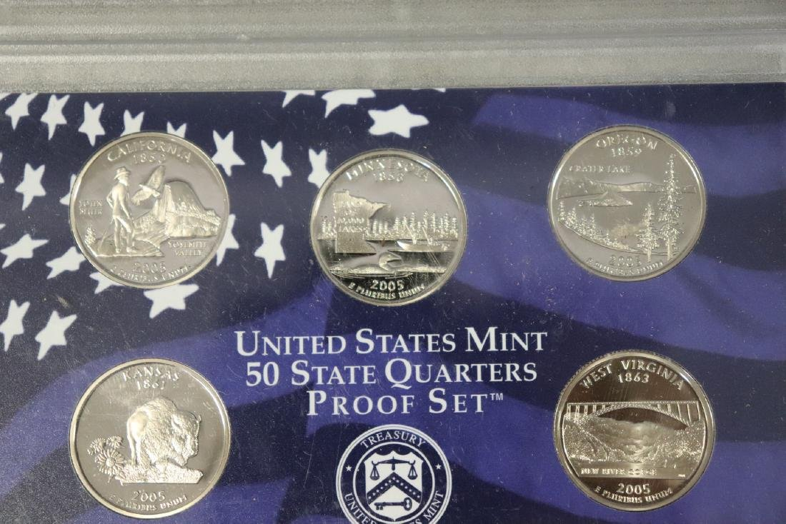 Lot of Three State Quarter Proof Sets in Case - 7