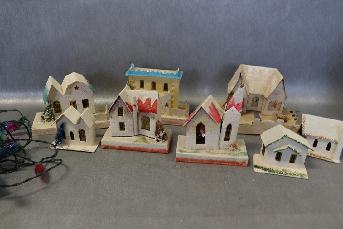 Lot of Vintage 1950's Christmas House's with Lights