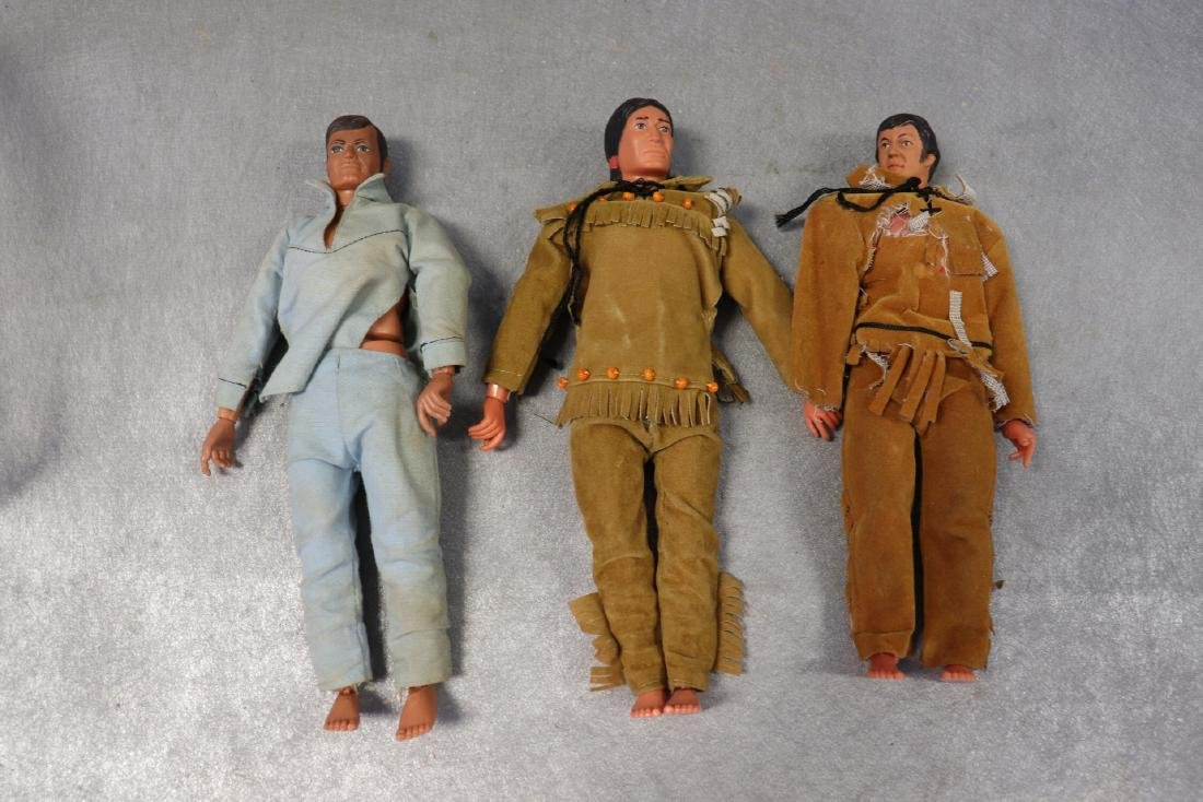 Lot of 3 Action figures, 1973 Lone Ranger & Tonto And