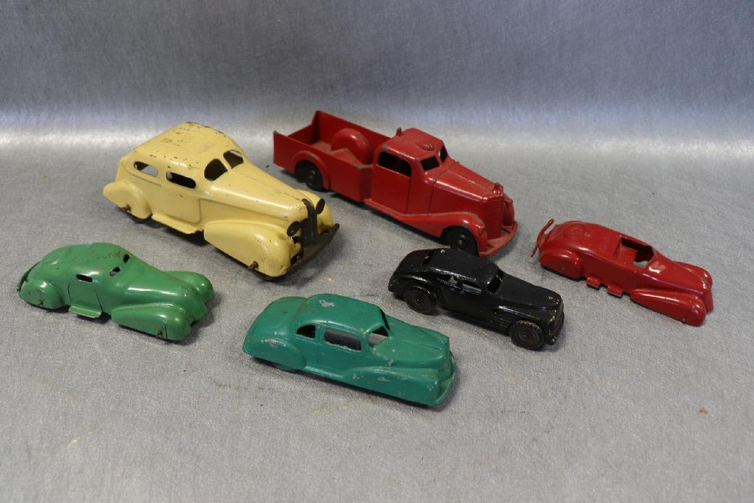 Lot of 6 Antique Metal Cars