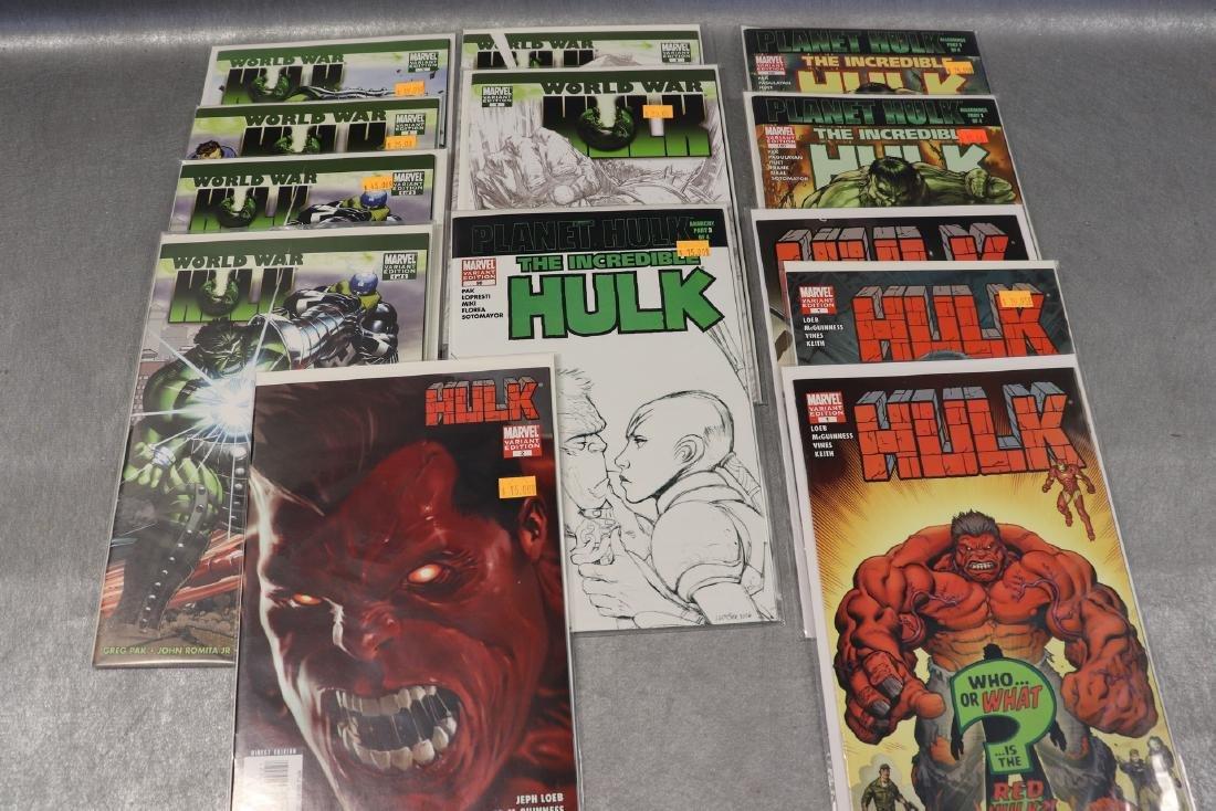Lot of Marvel World War & Hulk Comics