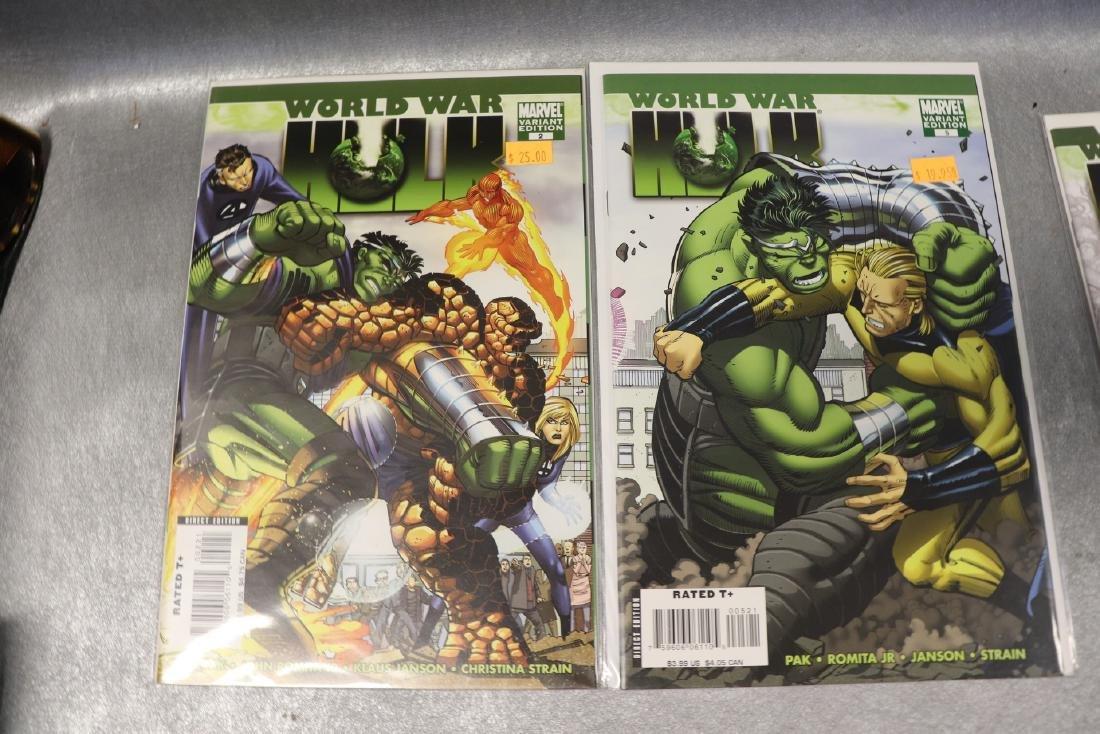 Lot of Marvel World War & Hulk Comics - 5
