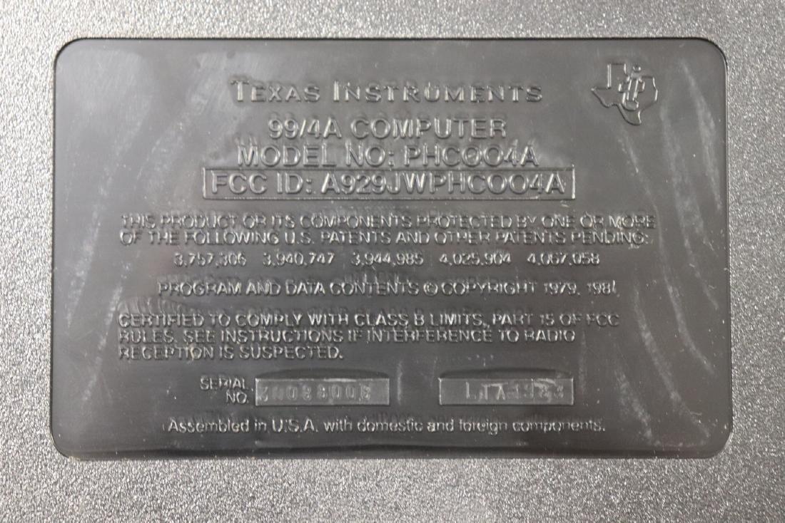 Texas Instruments Home Computer, TI-99/4A - 4
