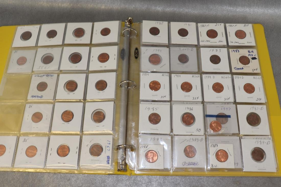 Binder Lincoln Cents - 4