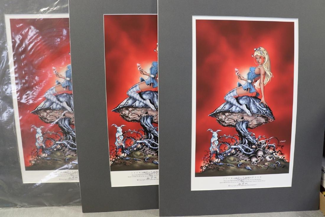 Lot of 3 Grimm Tales, Alice in Wonderland Prints