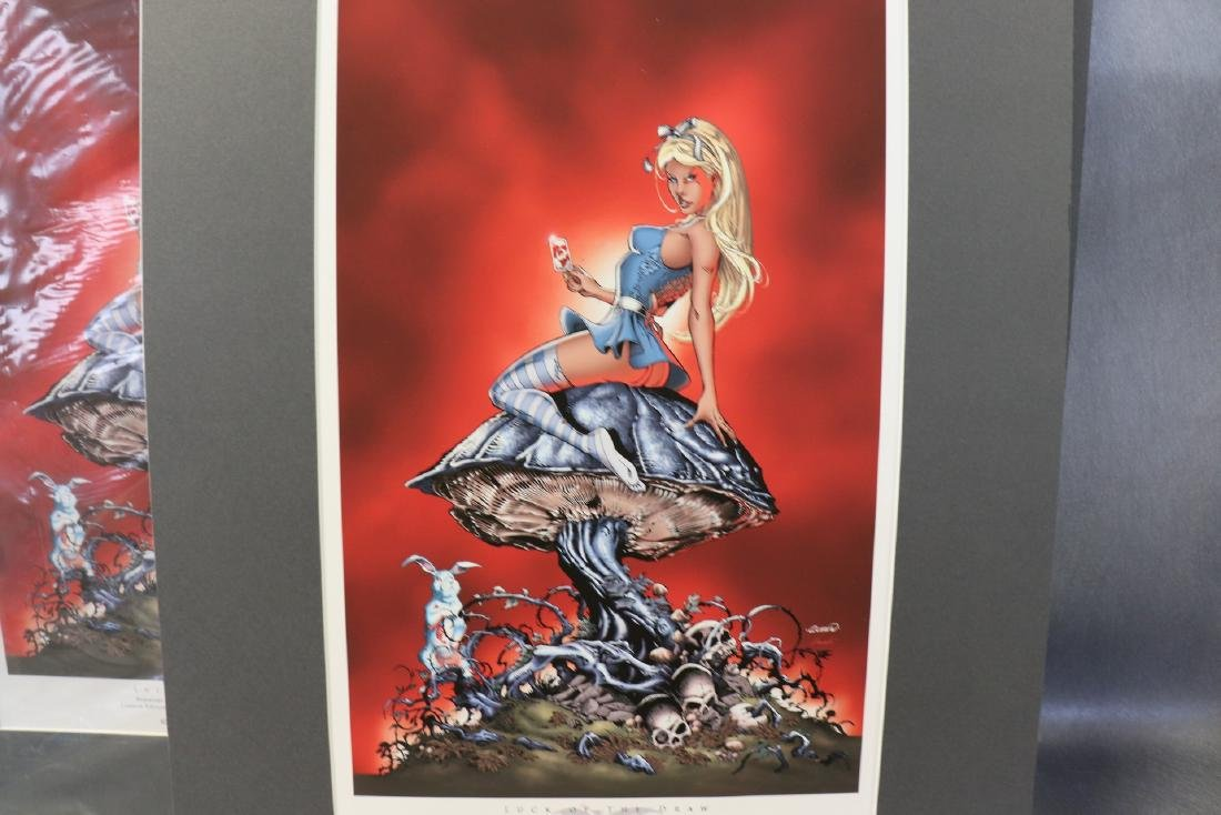 Lot of 3 Grimm Tales, Alice in Wonderland Prints - 2