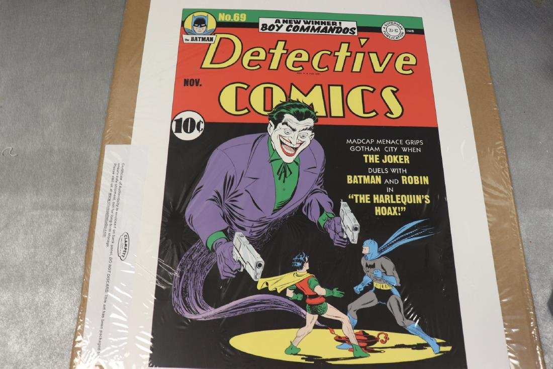 The Harlequin's Hoax Autographed Detective Comics Print