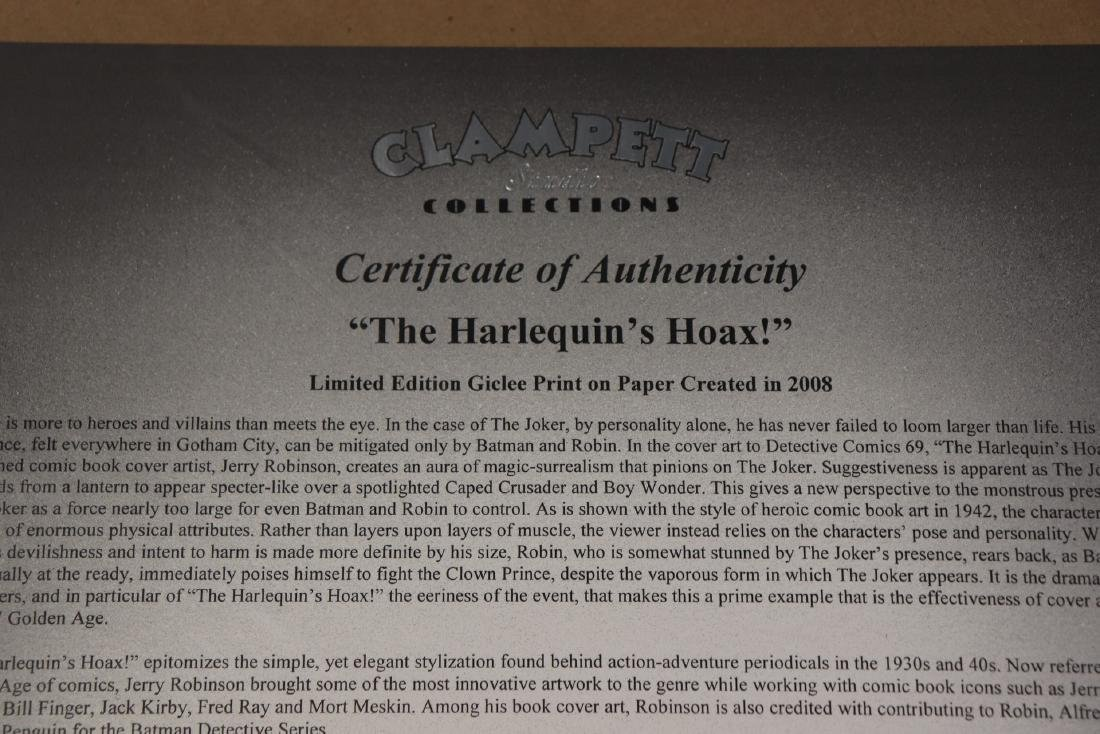 The Harlequin's Hoax Autographed Detective Comics Print - 7