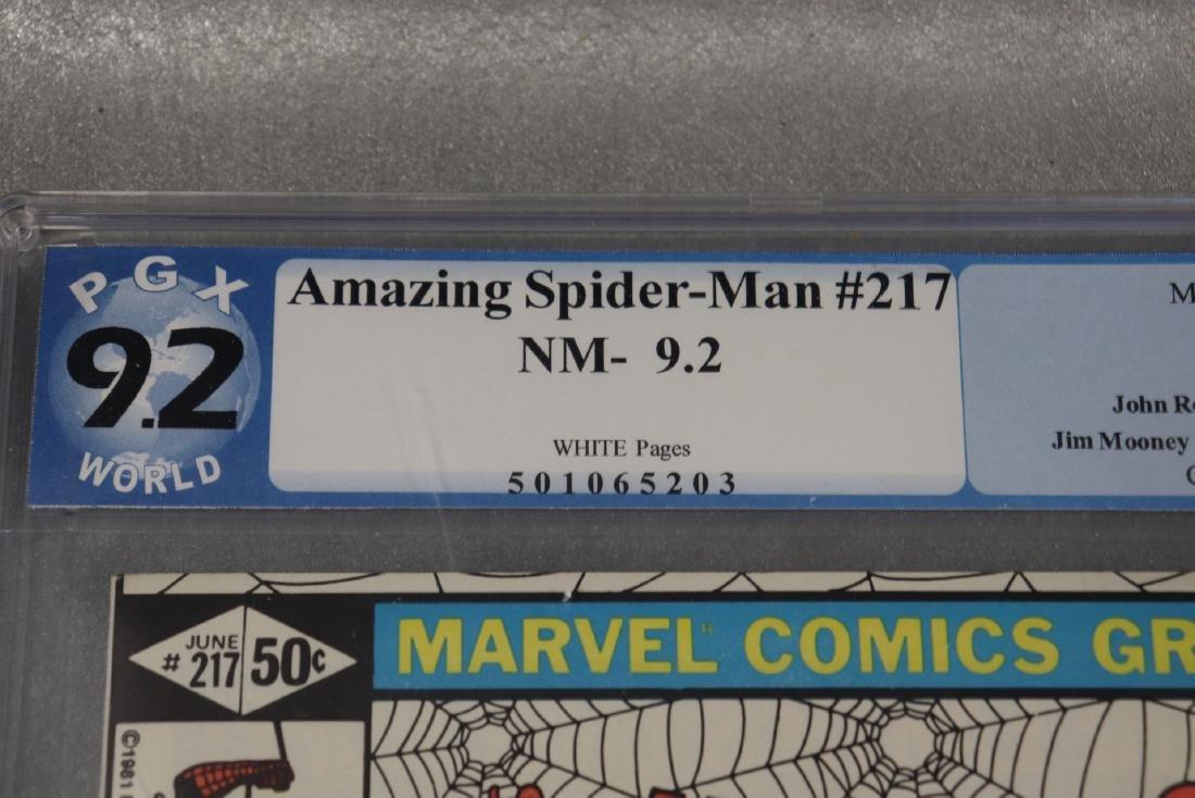 The Amazing Spiderman #217, PGX Graded 9.2 - 3