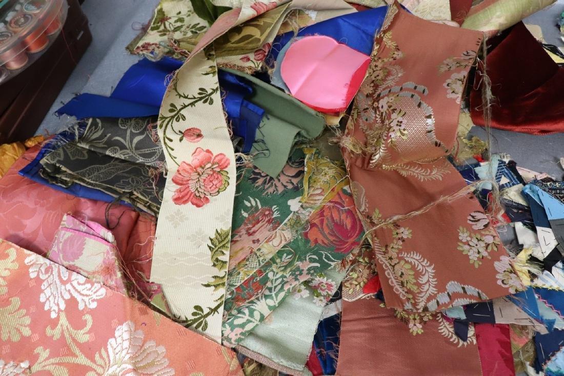 Victorian Crazy Quilt Fabrics And Quilt Top Piece - 4