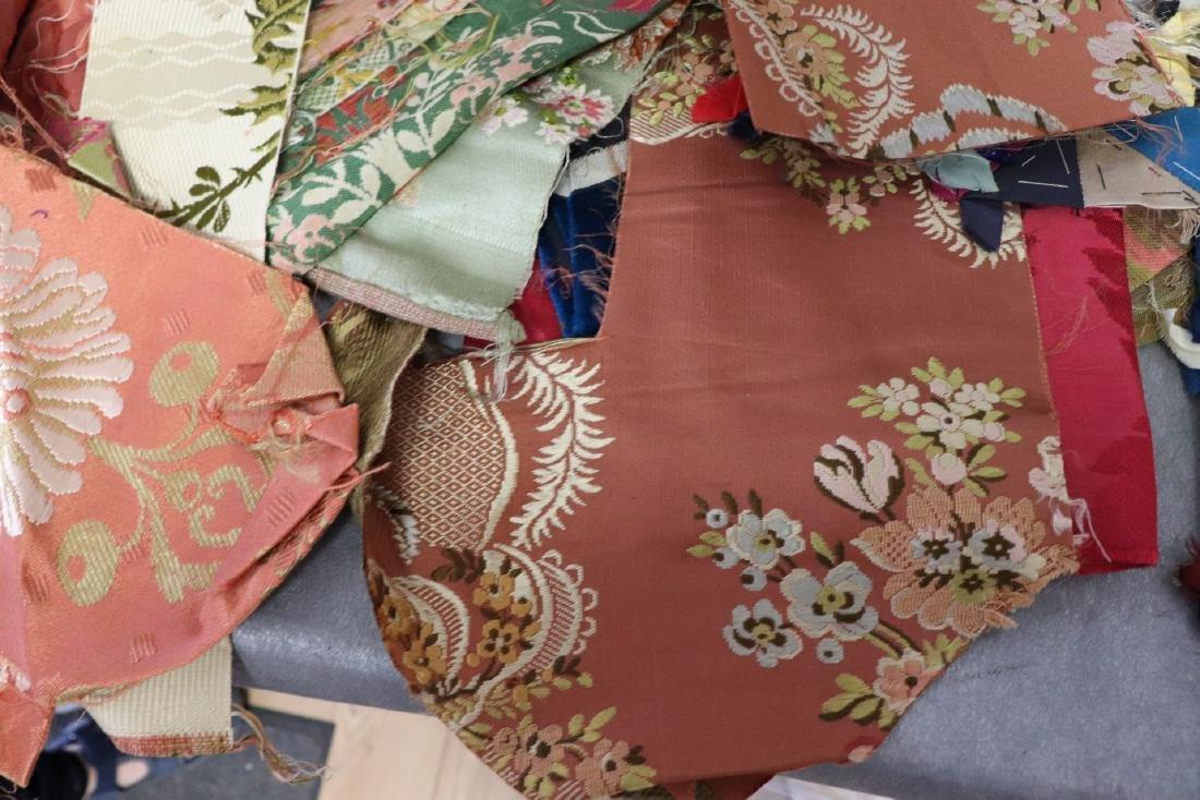 Victorian Crazy Quilt Fabrics And Quilt Top Piece - 5
