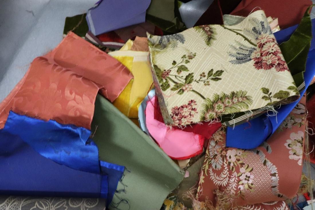 Victorian Crazy Quilt Fabrics And Quilt Top Piece - 6