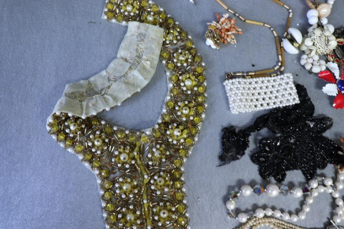 Large Lot Costume Jewelry, Earrings, Faux Pearls, Pins, - 2
