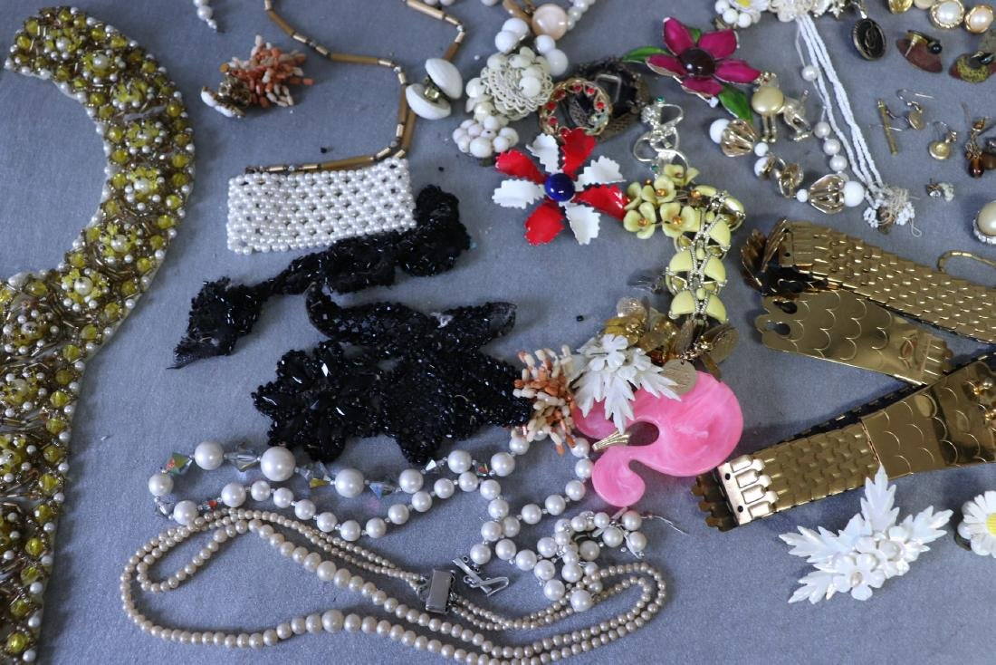 Large Lot Costume Jewelry, Earrings, Faux Pearls, Pins, - 4
