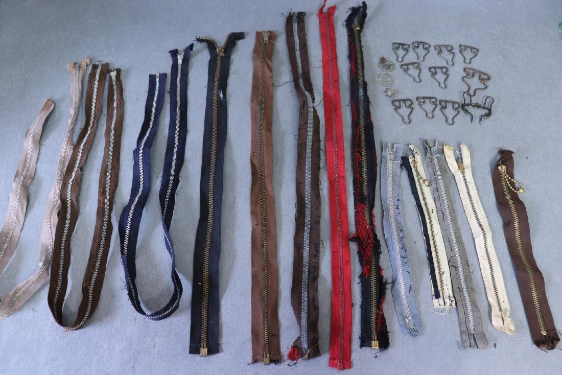 Lot of Vintage Metal Zippers, Talon, Overall/Suspenders