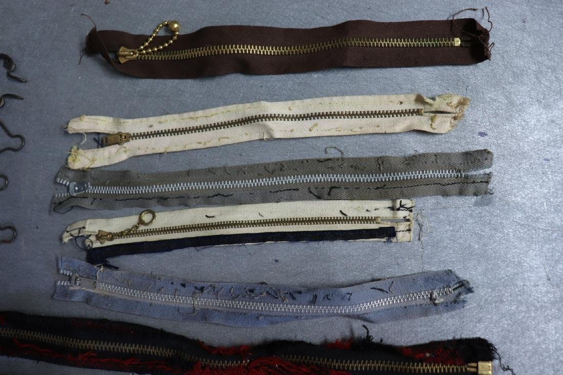 Lot of Vintage Metal Zippers, Talon, Overall/Suspenders - 2