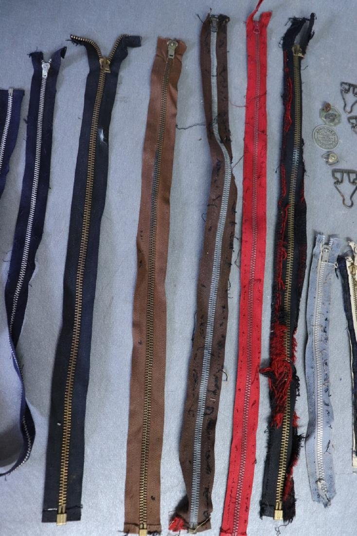 Lot of Vintage Metal Zippers, Talon, Overall/Suspenders - 4