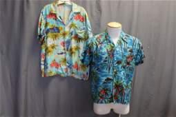 Lot of 2 Mens Hawaiian Shirts