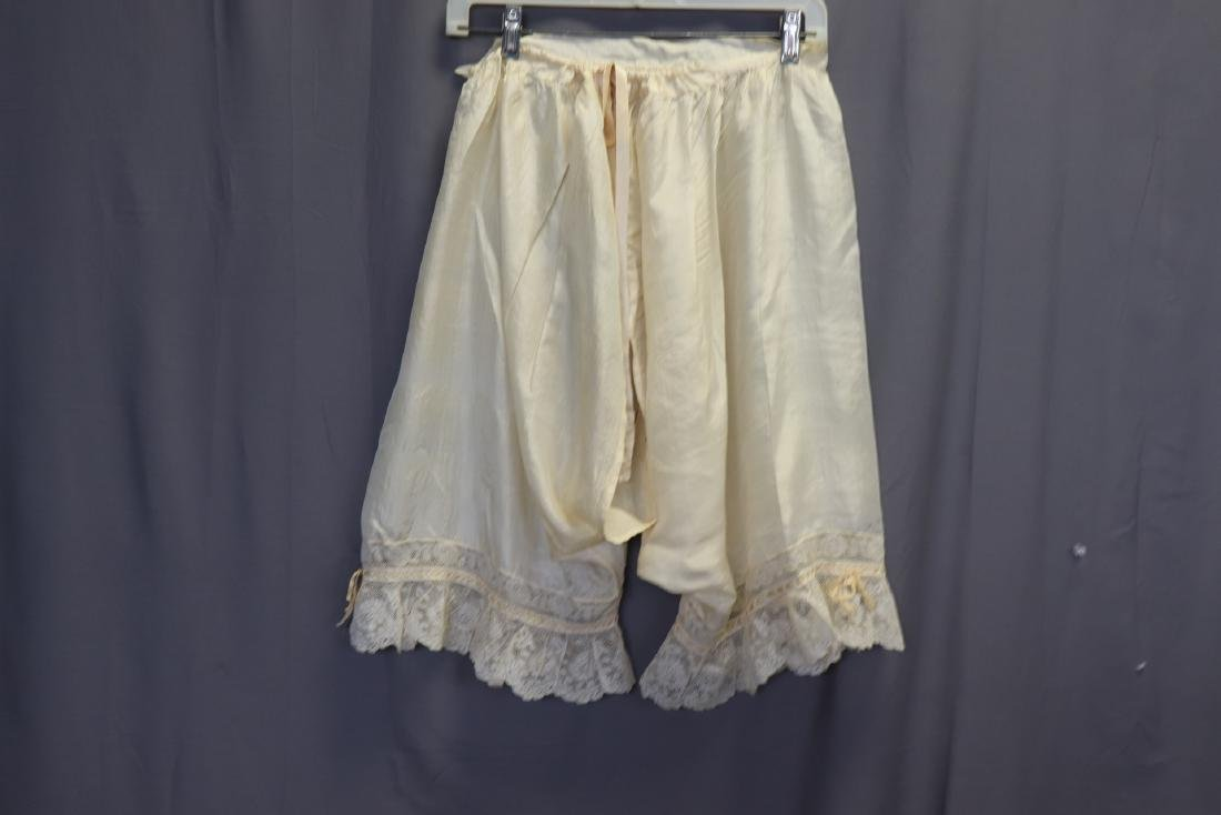 Victorian 1900 Silk Bloomers With French Lace