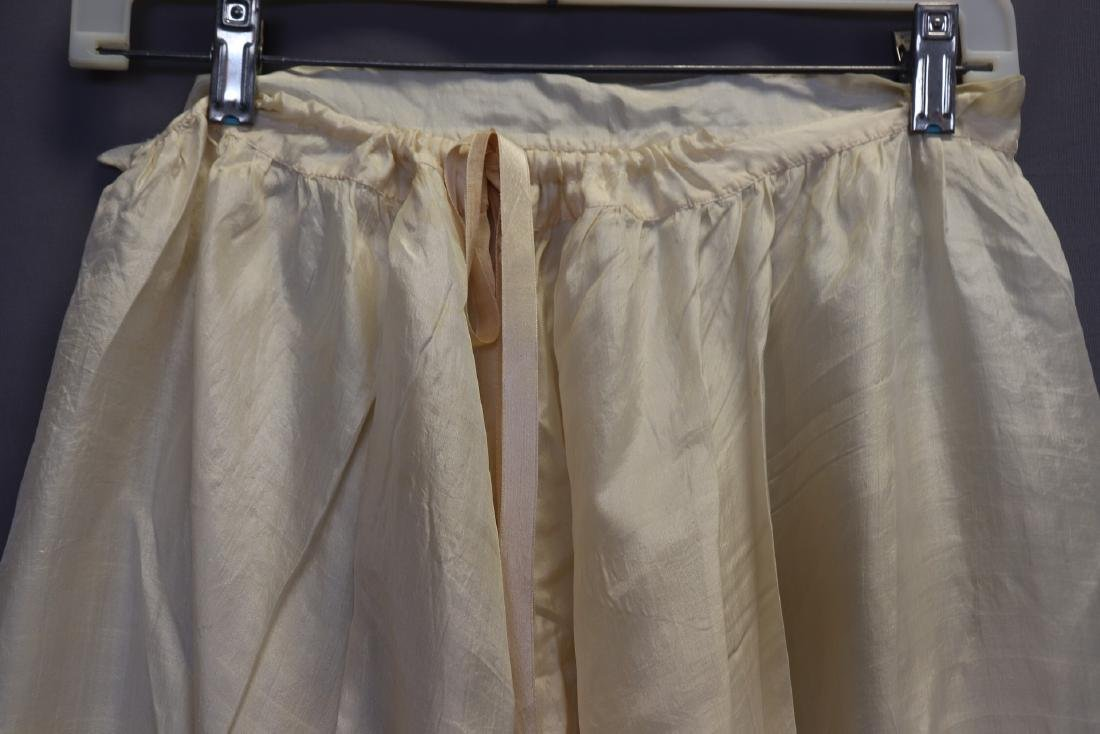 Victorian 1900 Silk Bloomers With French Lace - 2