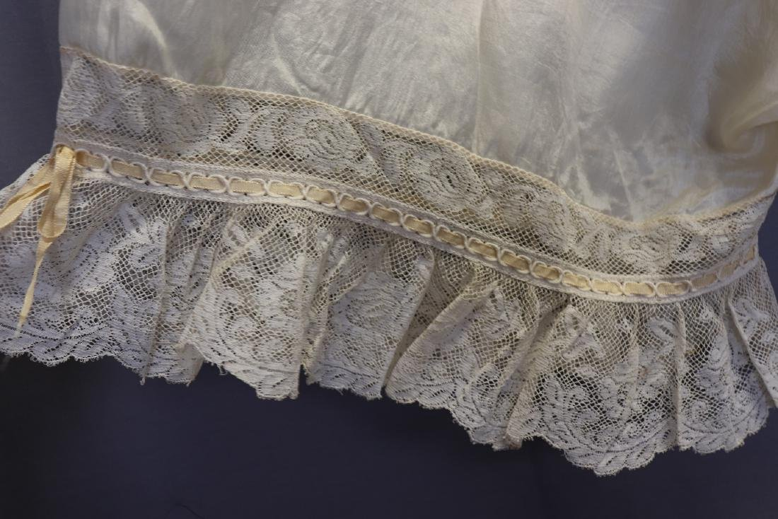 Victorian 1900 Silk Bloomers With French Lace - 3