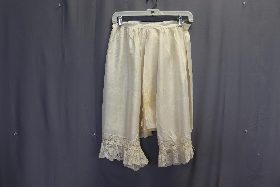 Victorian 1900 Silk Bloomers With French Lace - 4