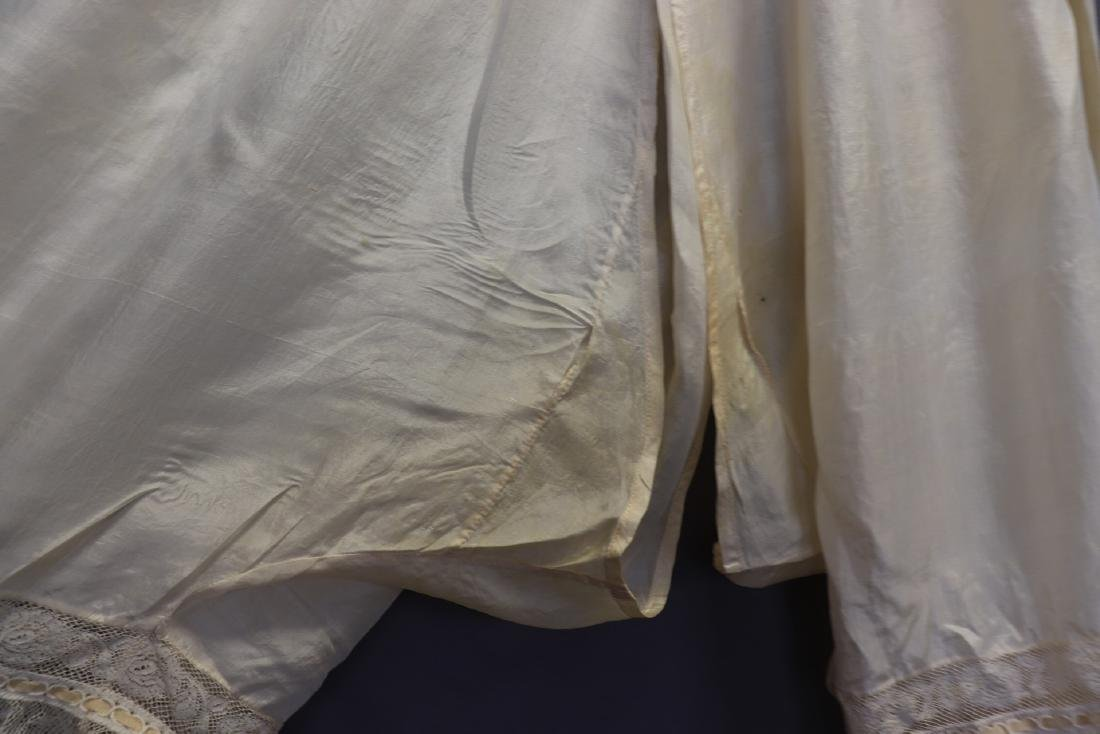 Victorian 1900 Silk Bloomers With French Lace - 5