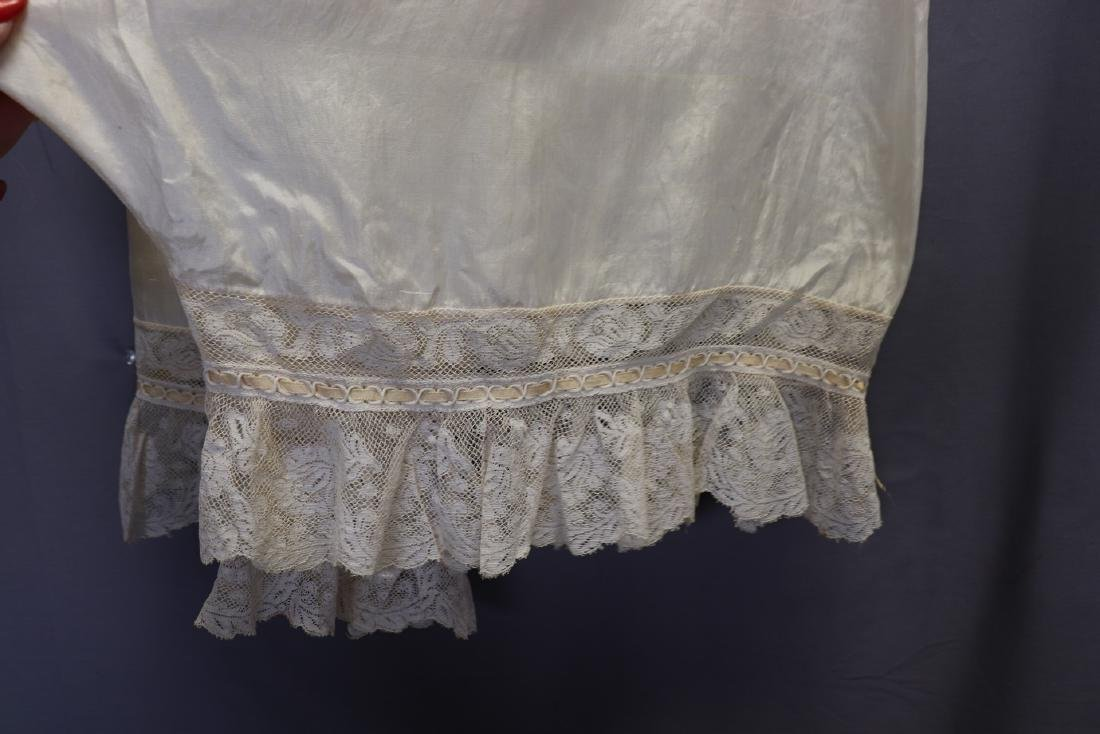 Victorian 1900 Silk Bloomers With French Lace - 7