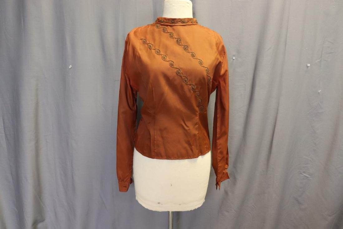 Vintage 1940's Women's Blouse With Braid Design
