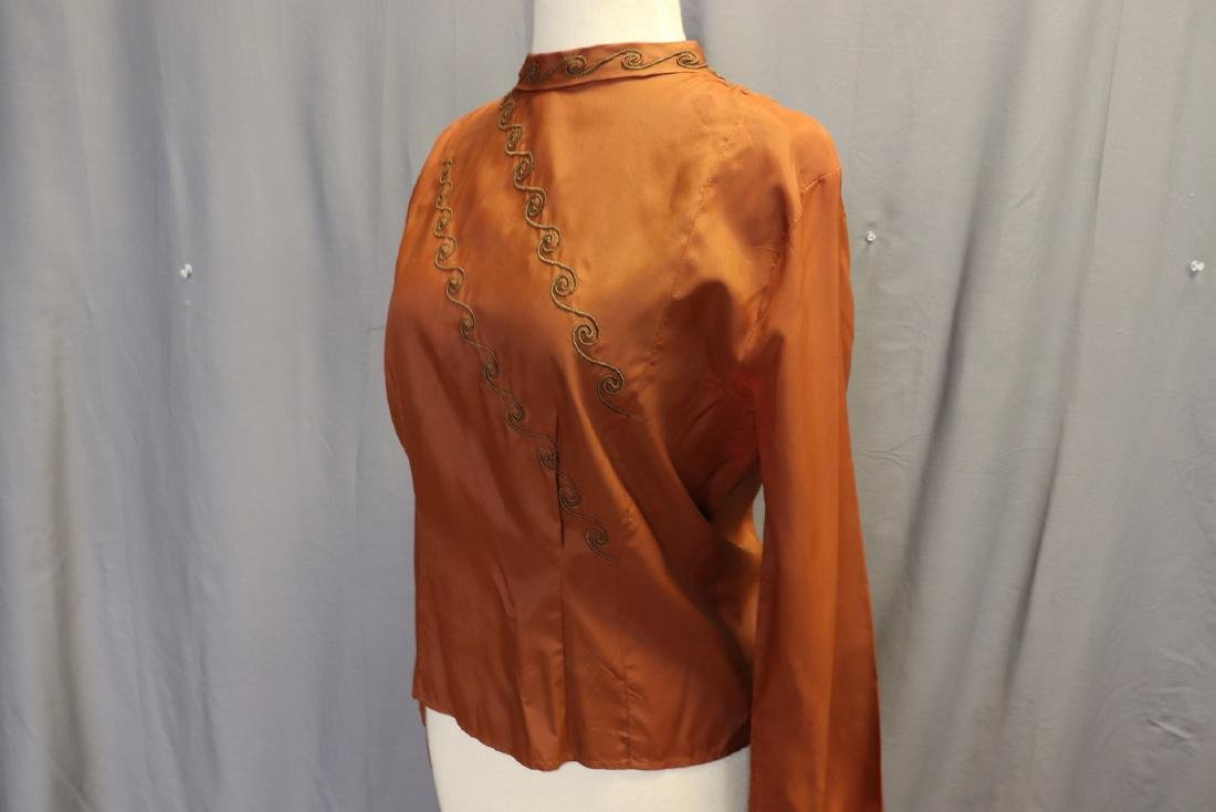 Vintage 1940's Women's Blouse With Braid Design - 3