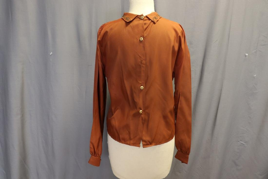 Vintage 1940's Women's Blouse With Braid Design - 4