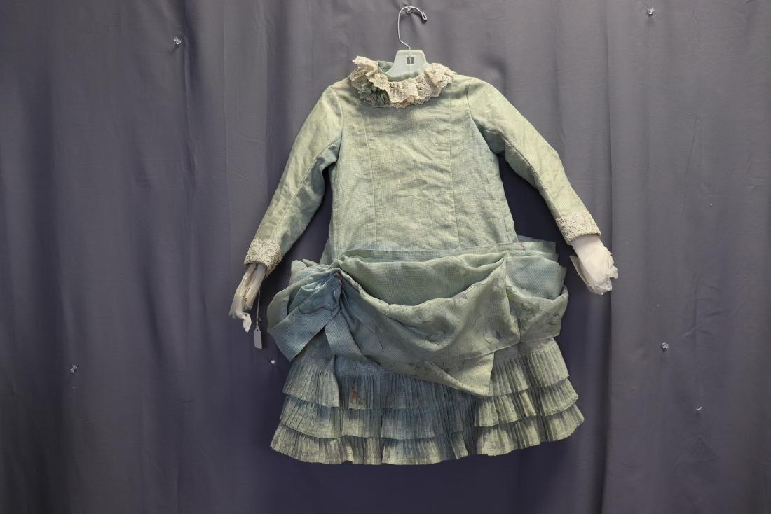 Victorian Chiffon & Green Silk Gingham Girl's Party
