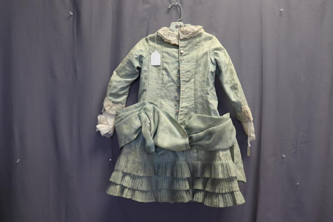 Victorian Chiffon & Green Silk Gingham Girl's Party - 6