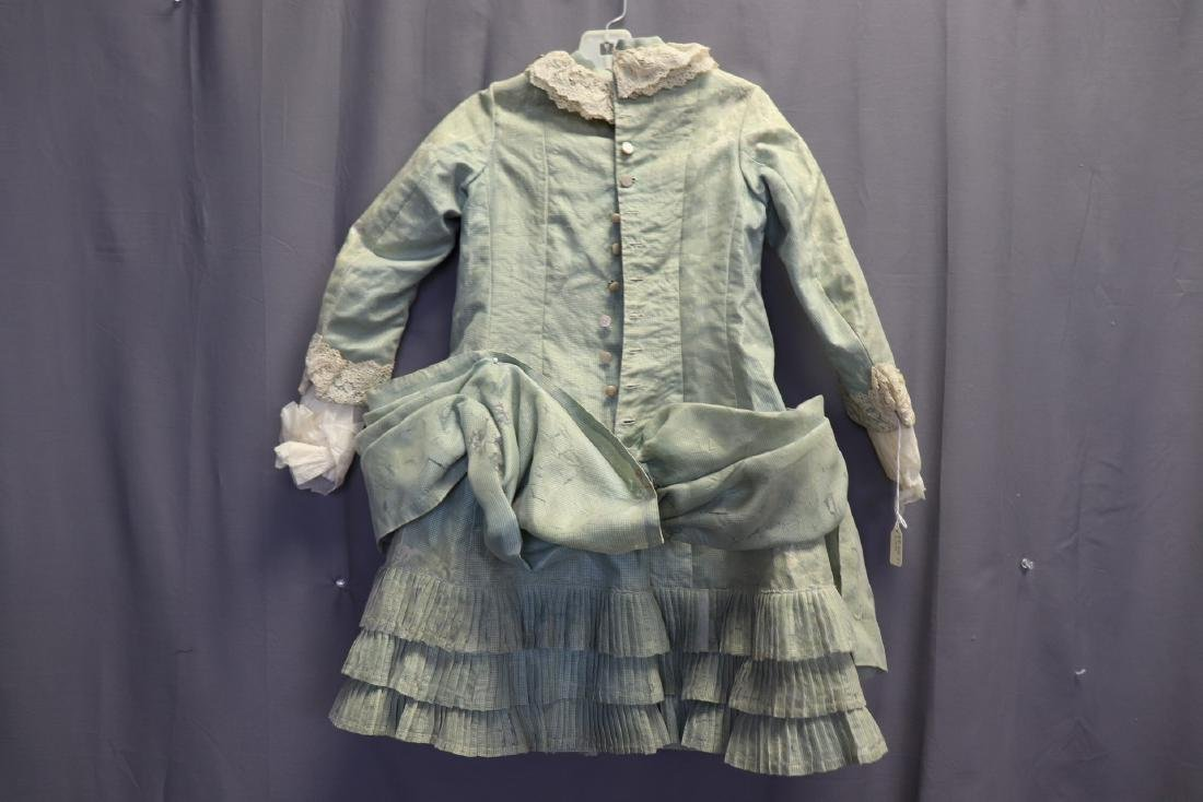 Victorian Chiffon & Green Silk Gingham Girl's Party - 7