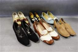 Lot of 6 Pair Vintage Womens Shoes