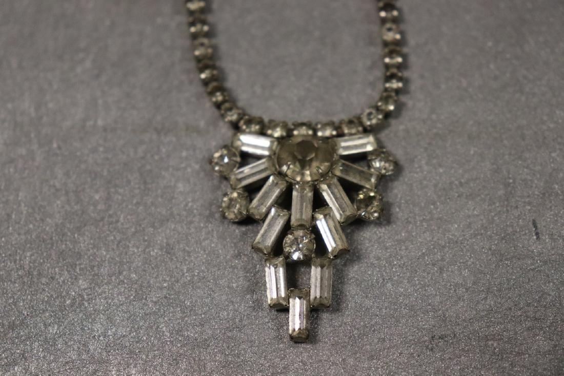 Vintage Jewelry Lot Rhinestone Pins & Necklaces - 6