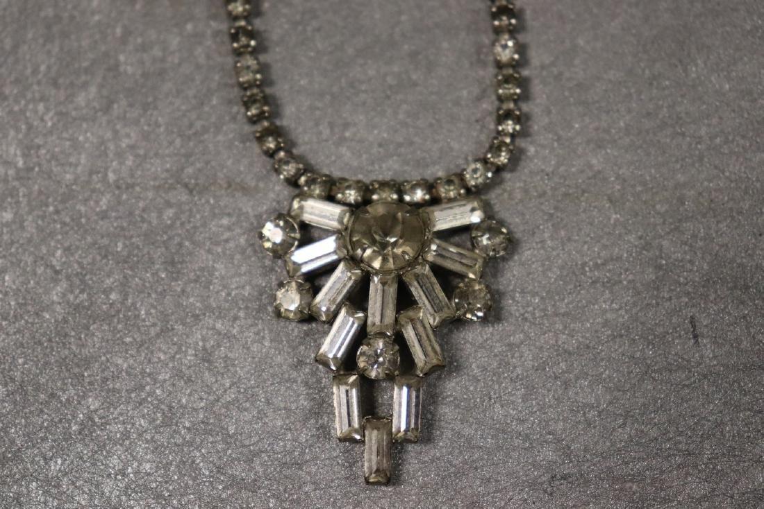 Vintage Jewelry Lot Rhinestone Pins & Necklaces - 7