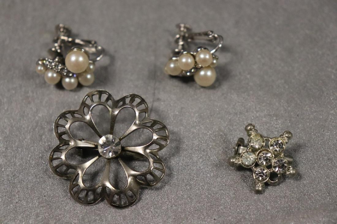 Vintage Jewelry Lot Rhinestone Pins & Necklaces - 8