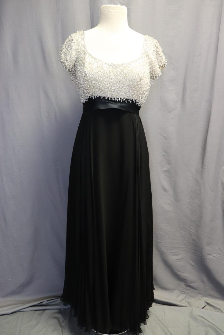 1960's Lillie Rubin Chiffon & Beaded Gown - 2