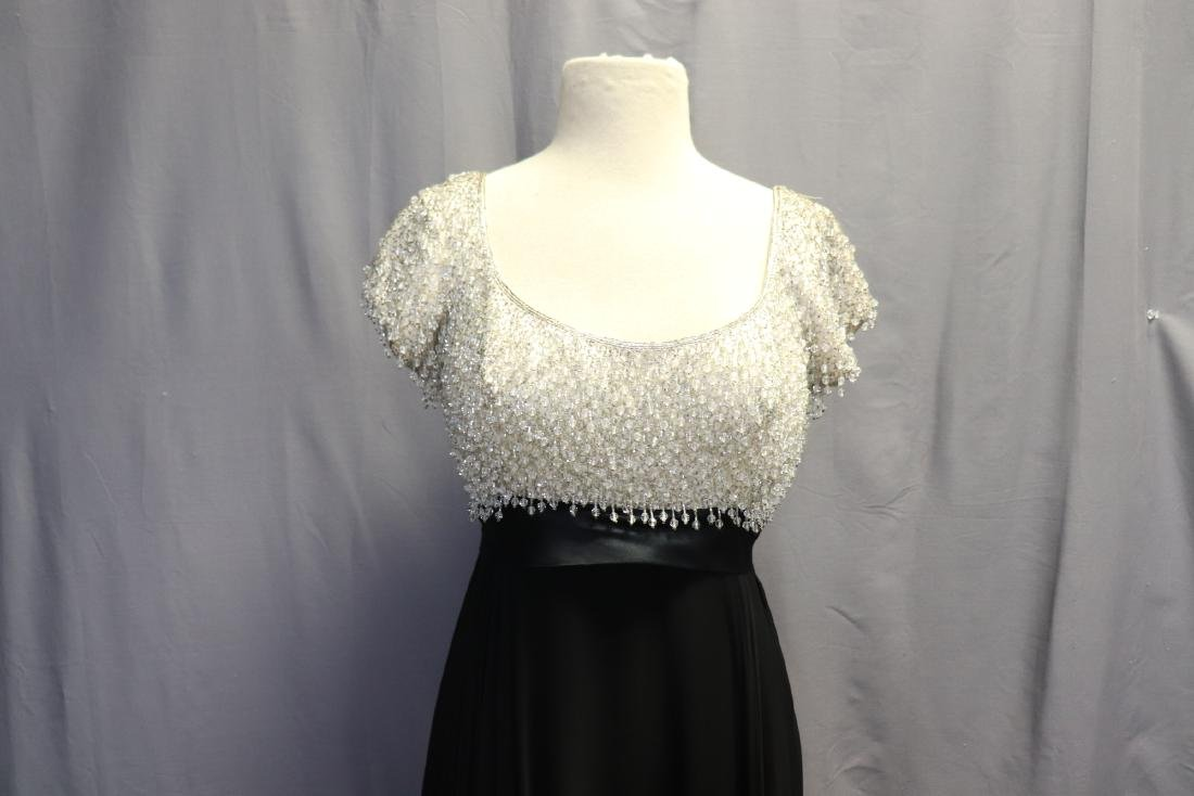 1960's Lillie Rubin Chiffon & Beaded Gown - 3