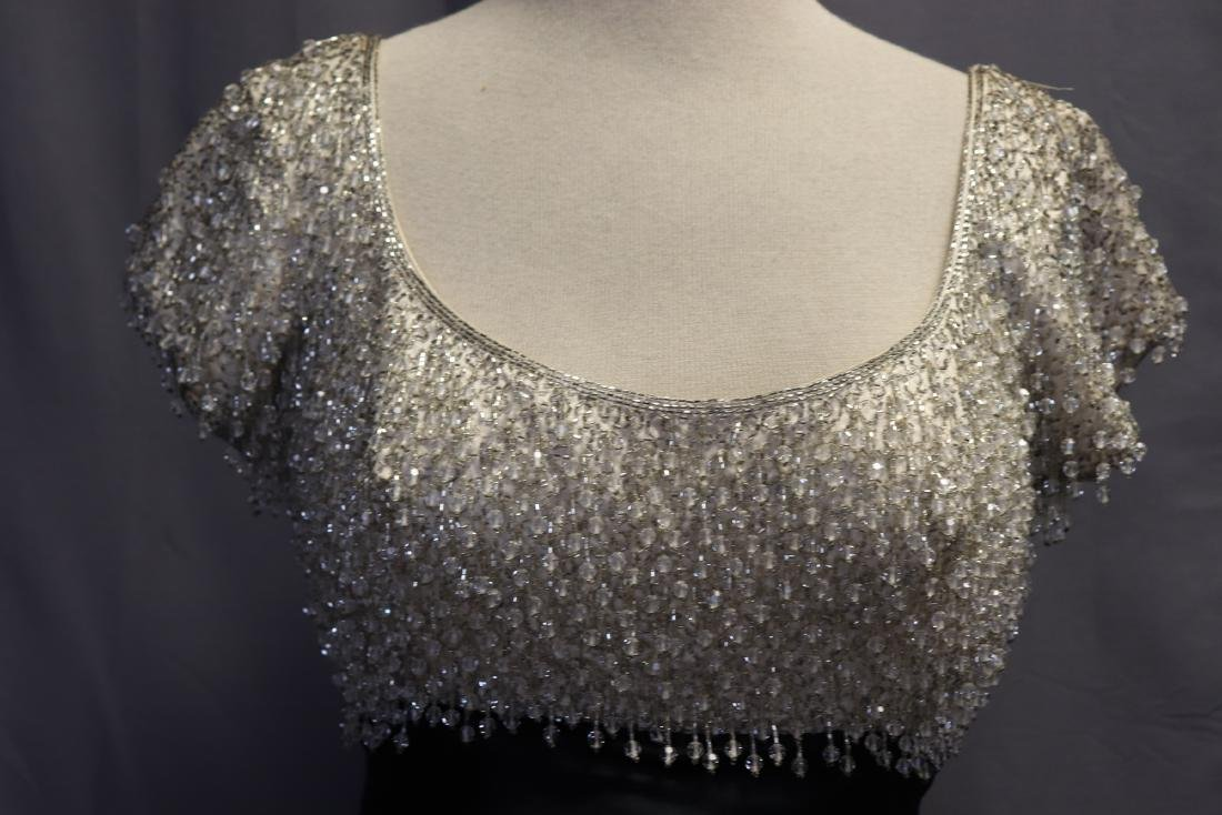 1960's Lillie Rubin Chiffon & Beaded Gown - 4
