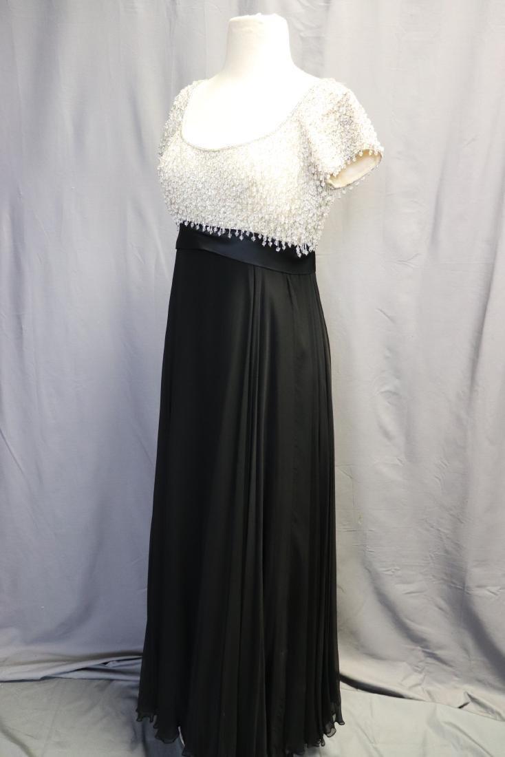 1960's Lillie Rubin Chiffon & Beaded Gown - 5