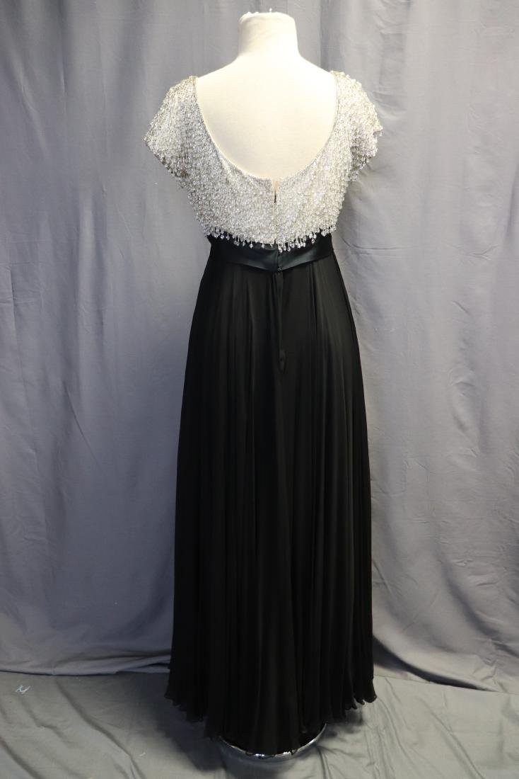 1960's Lillie Rubin Chiffon & Beaded Gown - 6