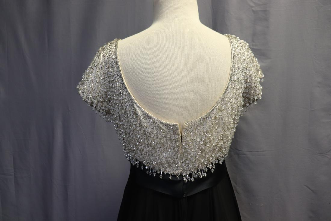 1960's Lillie Rubin Chiffon & Beaded Gown - 7