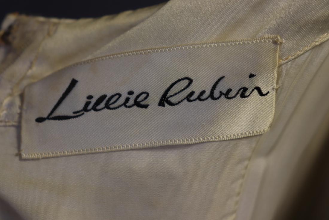 1960's Lillie Rubin Chiffon & Beaded Gown - 9
