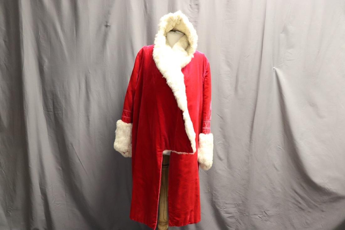 1920's Hot Pink Velvet & Fur Hooded Opera Coat - 7