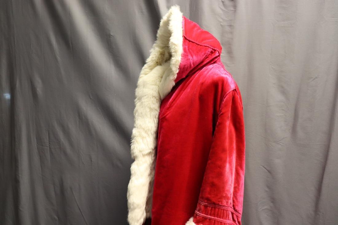 1920's Hot Pink Velvet & Fur Hooded Opera Coat - 8