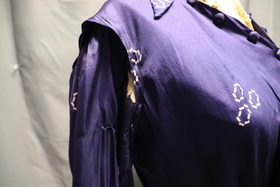 1910 Purple Silk Day Dress - 10