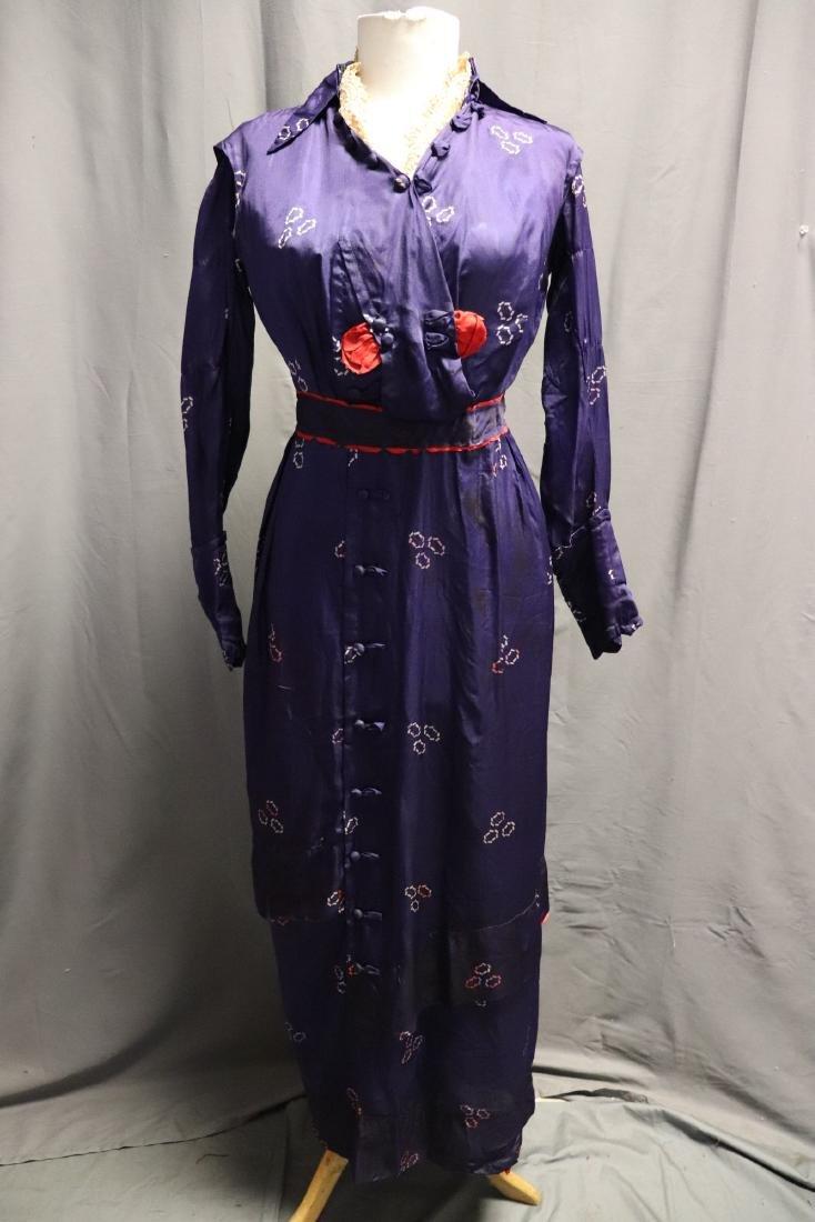 1910 Purple Silk Day Dress